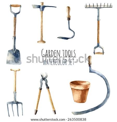 Arefyeva victoria 39 s portfolio on shutterstock for Gardening tools victoria