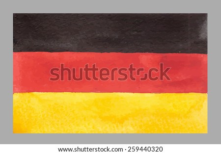 Watercolor German Flag. Vector EPS 10