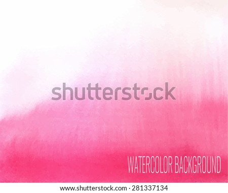 watercolor gradient background - stock vector