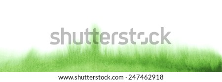 Watercolor grass. Vector - stock vector