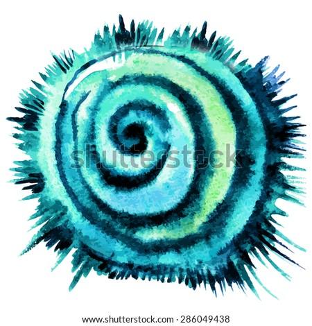 Watercolor hand-drawn design element, vector Illustration - stock vector