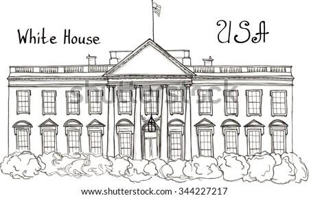 White House Dc Stock Vectors Images Vector Art