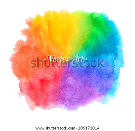 Watercolor hand painted vintage texture. Vector background. - stock vector