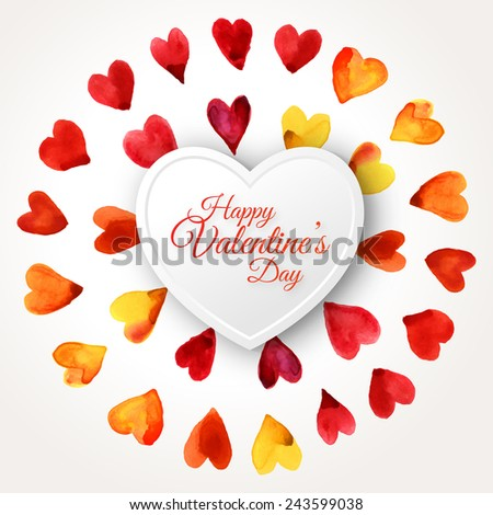 Stock Images similar to ID 124706830 - hand drawn painted red heart ...