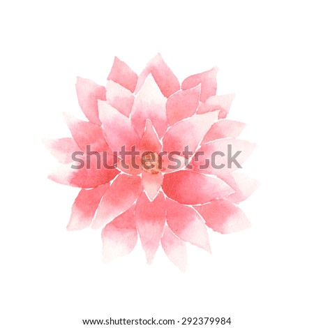 Stock Vector Watercolor Lotus Flower Pink Vector Painted Decorative Element Isolated On White Background Logo on aum symbols om graphics hindu religious