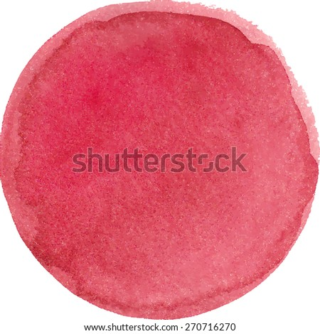 Watercolor marsala color circle