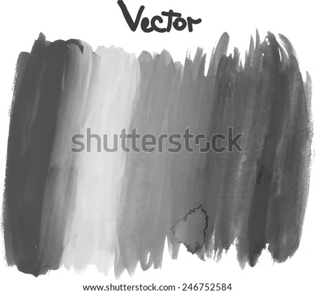 Watercolor rainbow hand painted background. Vector illustration. - stock vector