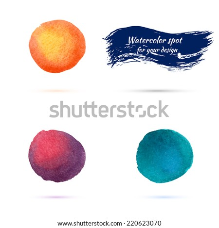 watercolor spots for design elements. color gradients. vector.