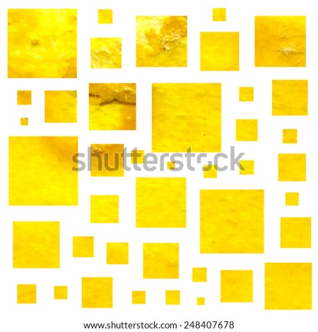 Watercolor squares background, can be used as seamless pattern. Vector illustration.