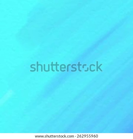 Watercolor striped brush strokes abstract hand drawn blue vector background. Design card for scrapbook, poster, banner, decor, wallpaper, print, template. Water sea artistic painted illustration.  - stock vector