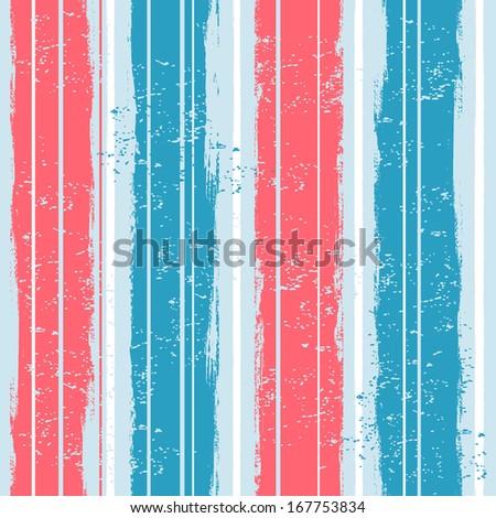 Watercolor striped seamless  - stock vector