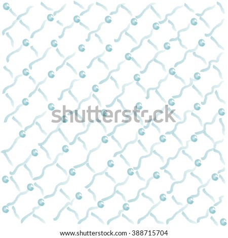 watercolor stripes and dots  background, vector eps10