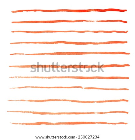 Watercolor stripes hand drawn - stock vector