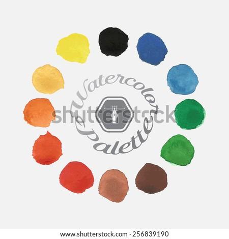 watercolor theme. Vector illustration - stock vector