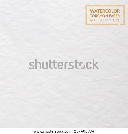 Watercolor torchon paper vector texture - stock vector