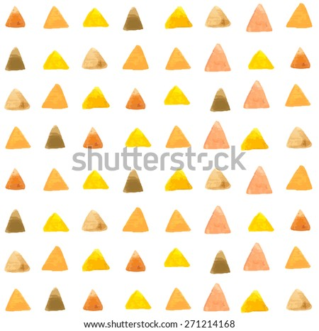 watercolor triangle pattern, seamless illustration, Vector - stock vector