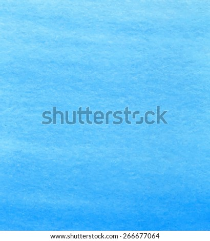 Watercolor water blue paper texture hand drawn background. Vector abstract wet brush painted illustration. Wash artistic macro wallpaper. Design card card for banner, print, decor, template, poster - stock vector