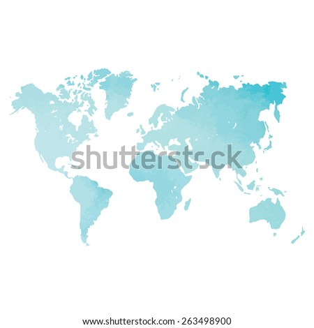 Watercolor world map vector stock vector 263498900 shutterstock watercolor world map in vector gumiabroncs Choice Image