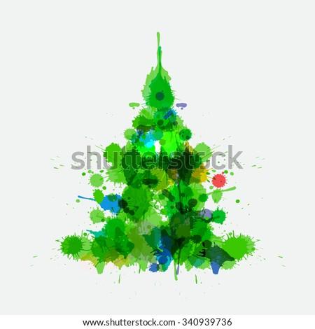 Textured Spray Paint White For Xmas Tree