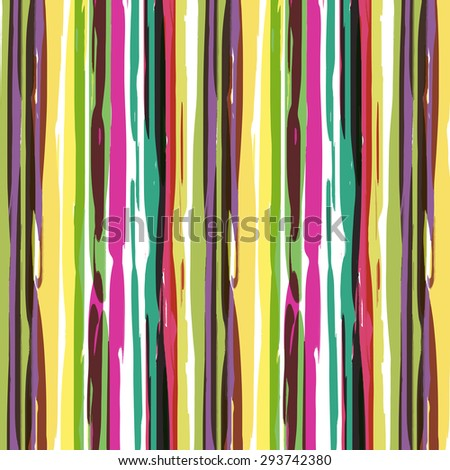 Watercolors stripes pattern : vector eps.10 - stock vector