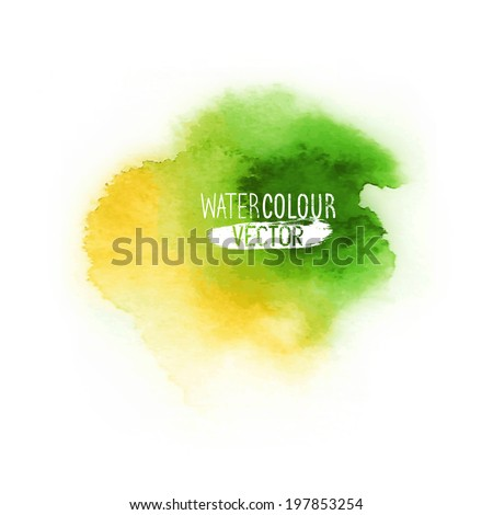 Watercolour painting vector element. Vector illustration. - stock vector