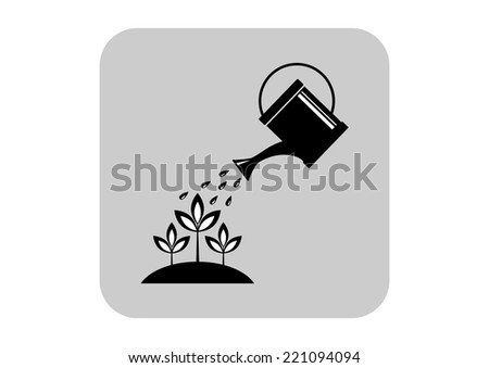 Watering can icon  - stock vector