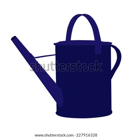 Watering can, reservoir, blue watering can, inventory