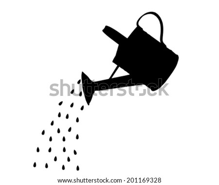Watering pot - stock vector