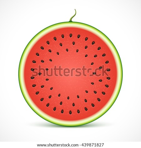 Watermelon slice isolated on white background.