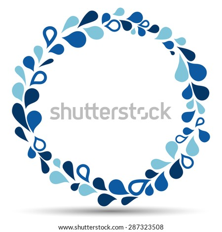 Watter drops in circle - stock vector