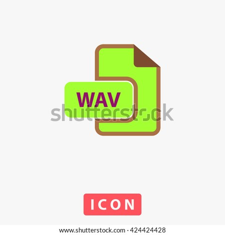 WAV Icon. WAV Icon Vector. WAV Icon Logo. WAV Icon Object. WAV Icon Picture. WAV Icon Image. WAV Icon Graphic. WAV Icon Art. WAV Icon UI. WAV Icon EPS. WAV Icon AI. WAV Icon Drawing - stock vector