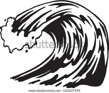 Wave Stock Vector 182637599 - Shutterstock