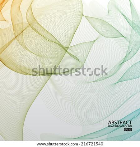 Wave background. EPS10 vector - stock vector