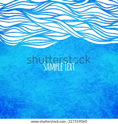 Wave background, vector illustration - stock vector