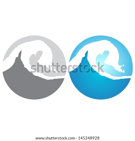 Wave icon - stock vector
