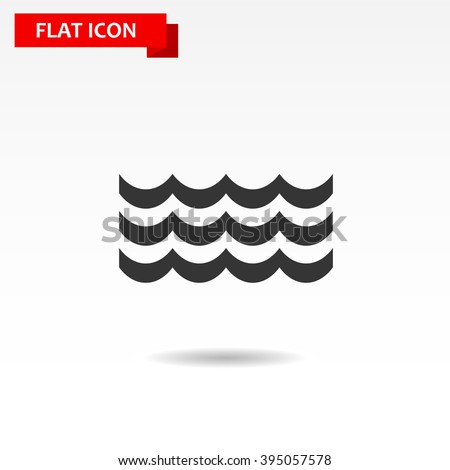 Wave icon - stock vector