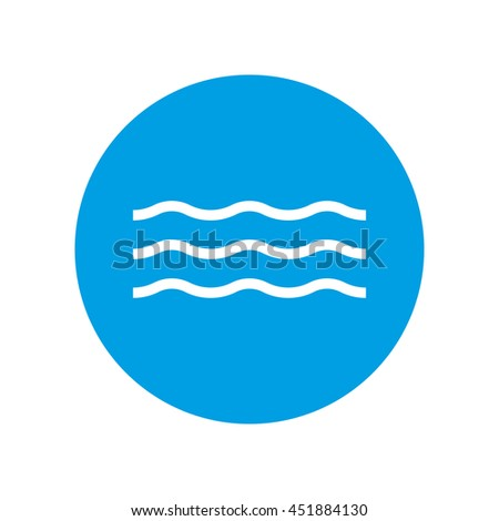 Wave icon and water sign. Vector illustration.