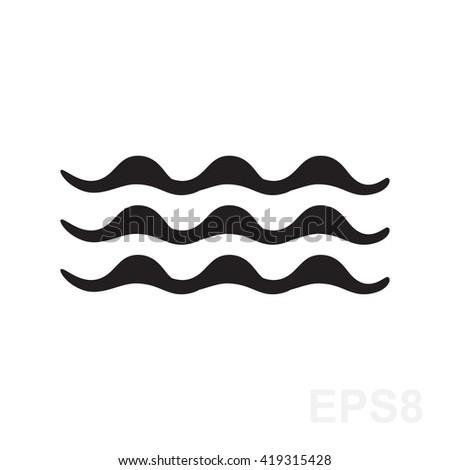 Fog Symbol Waves Symbol Weather Icon Stock Vector