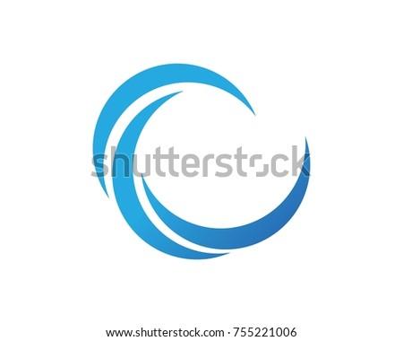 wave logos template symbol stock vector 755221006 shutterstock