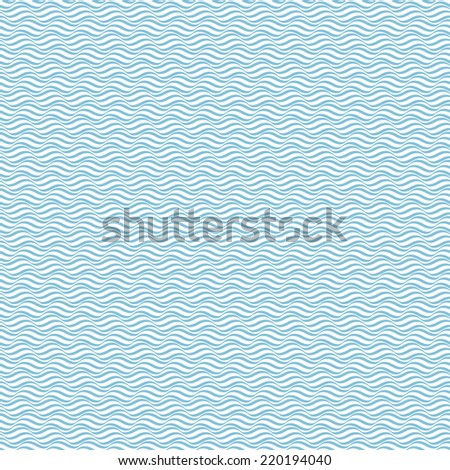 Wave pattern, a seamless vector background - stock vector
