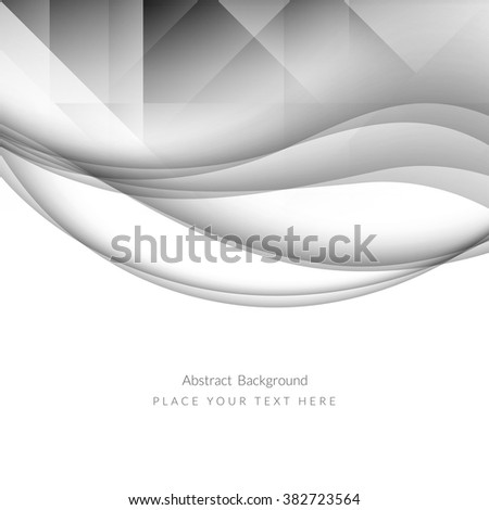 Wave pattern abstract background design - stock vector