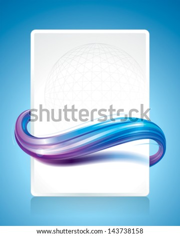 Wave pattern wrap around on blank page. - stock vector