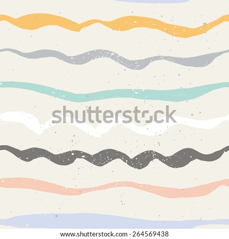 Wave seamless pattern. Summer. The Rest - stock vector