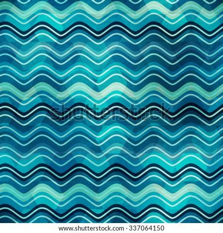 wave seamless texture - stock vector