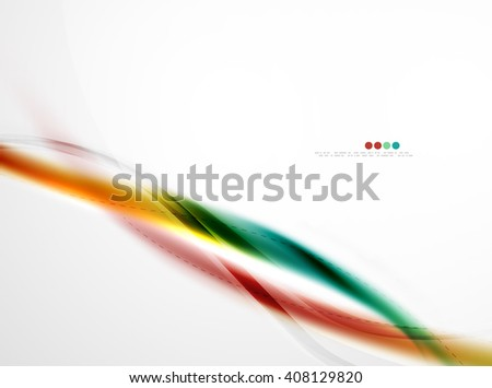 Wave vector, wave vector abstract background, modern wave, business wave, abstract background, colorful wave, rainbow wave, yellow wave, blue, wave, abstract wave, wave line - stock vector