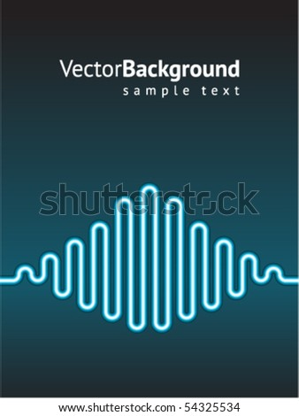 Waveform vector - stock vector