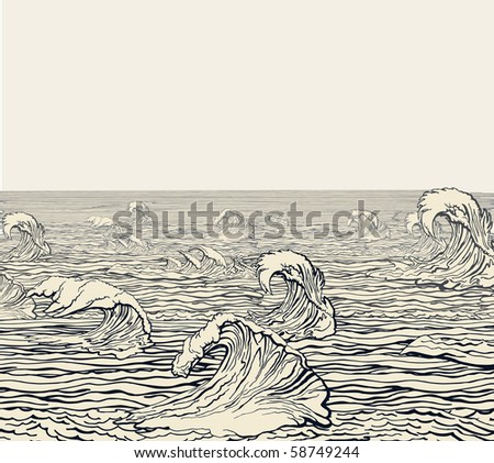 Waves - stock vector