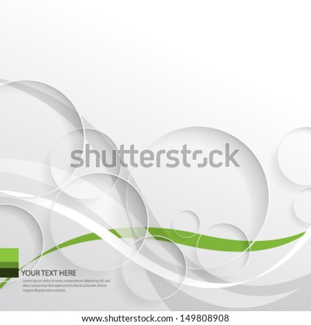 Waves and Circles Background - stock vector