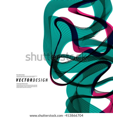 Waves and Lines Layout/Design Cover Background - stock vector