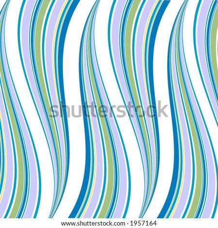 Waves for wallpaper or background in classic 70's look. - stock vector